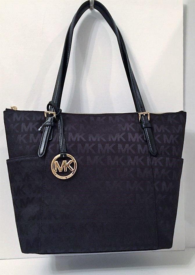 Jet Set Item EW Signature Tote Bag in Brown Saffiano Calfskin Michael Michael Kors tp6EL5