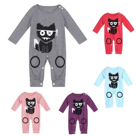 65b745e60 Long Sleeve Baby Romper Fashion Newborn Boys Girls Cotton Warm ...