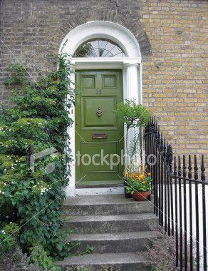 Olive Green Door