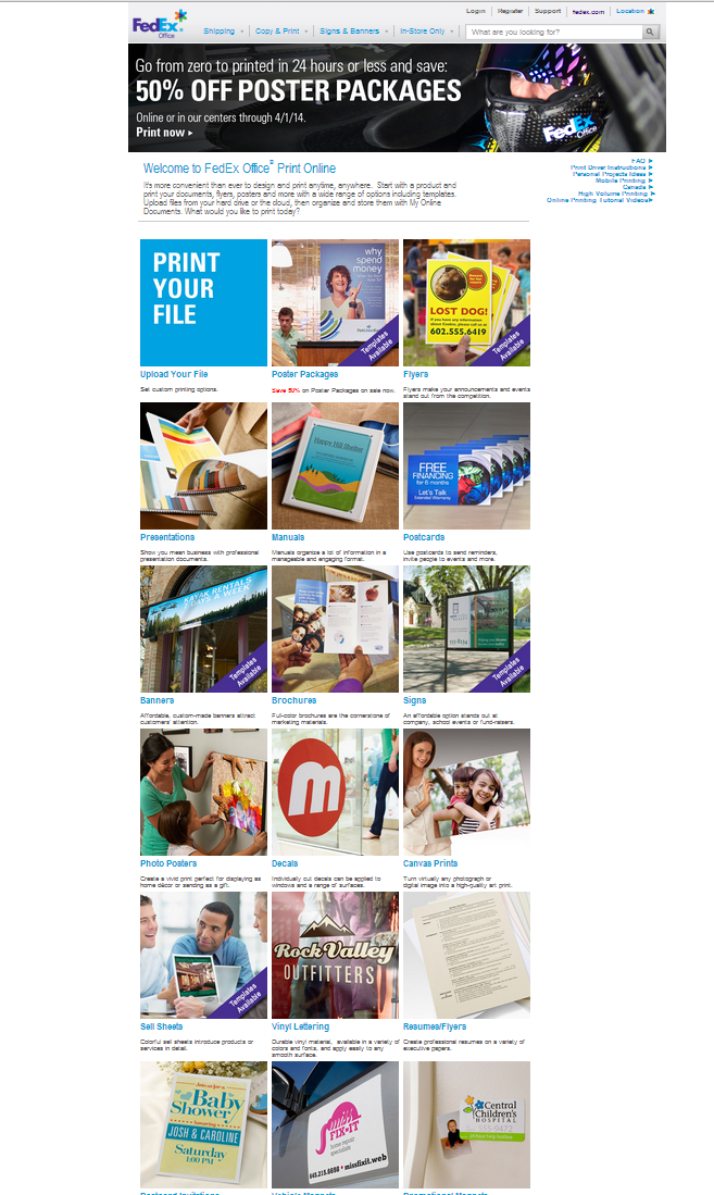 Fedex Print Services Office Prints Printing Center Online Printing