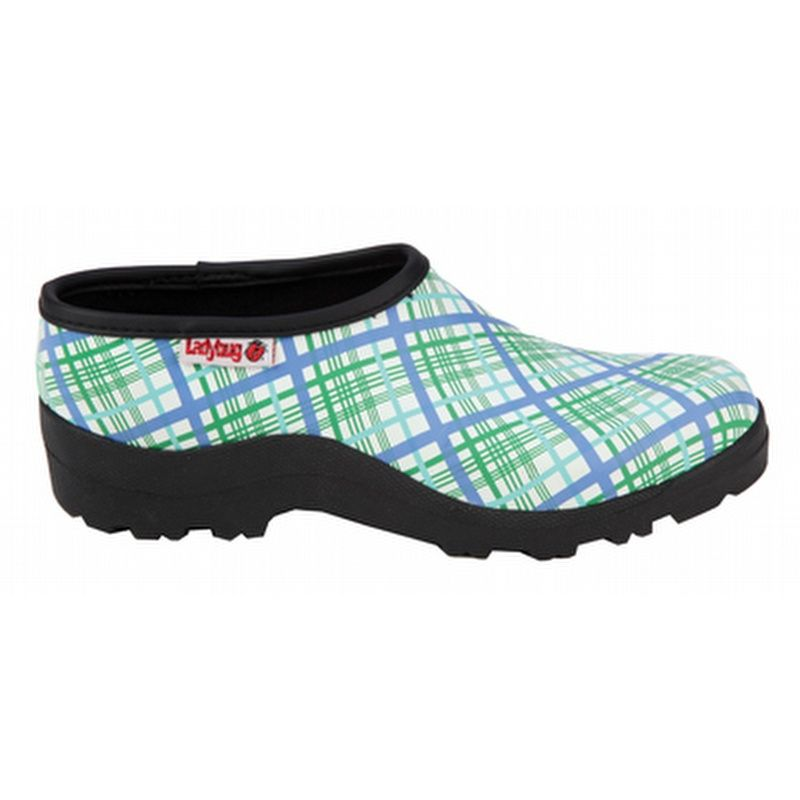 Garden Clogs Ranger Ladybugs White Plaid Garden Clogs CLOG