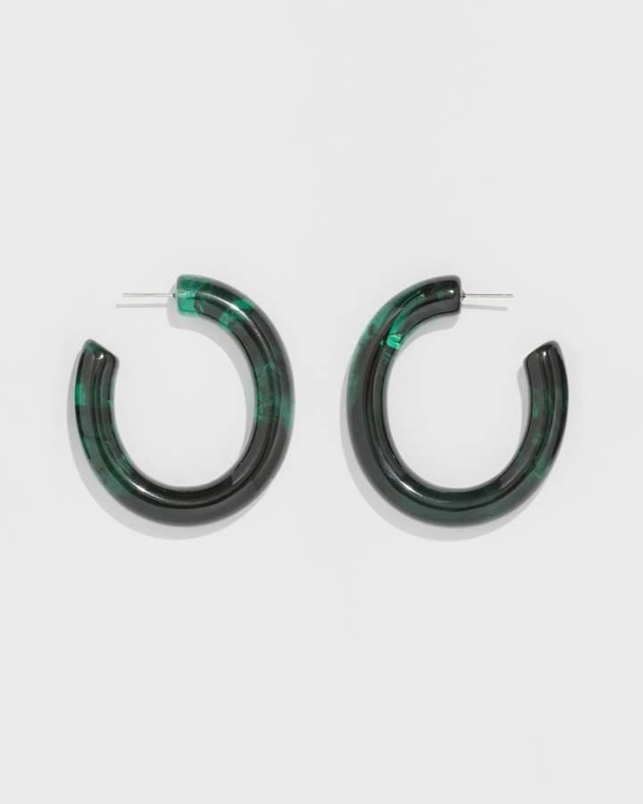 7e59b07acd25c Lizzie Fortunato Sea Green Rome Hoops   Products   Green, Earrings, Sea