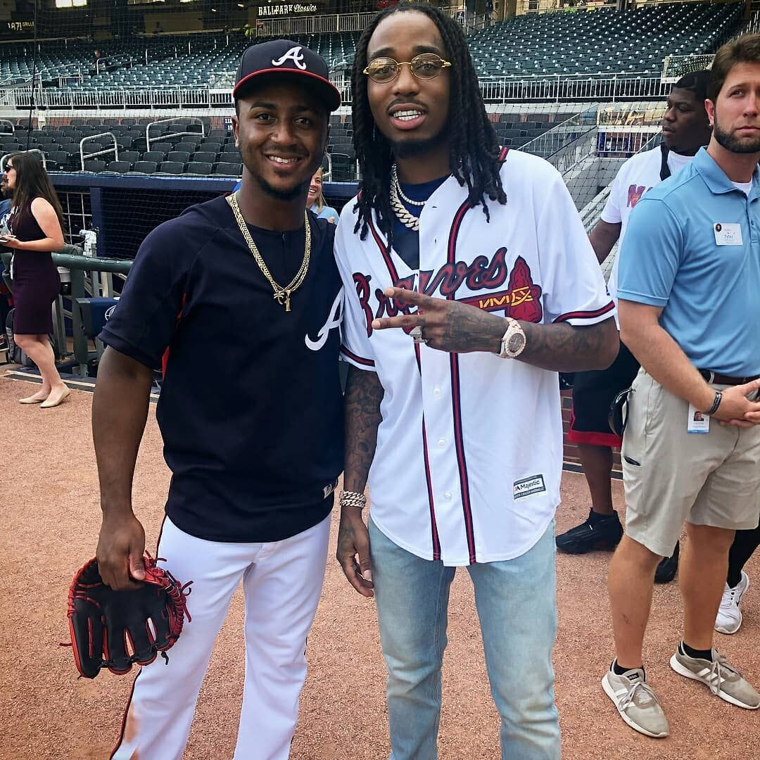 Quavo And Ozzie In The Game Of Braves Vs Dodgers Quavohuncho Yrntakeoff Offsetyrn Migos Migos Braves Dodgers