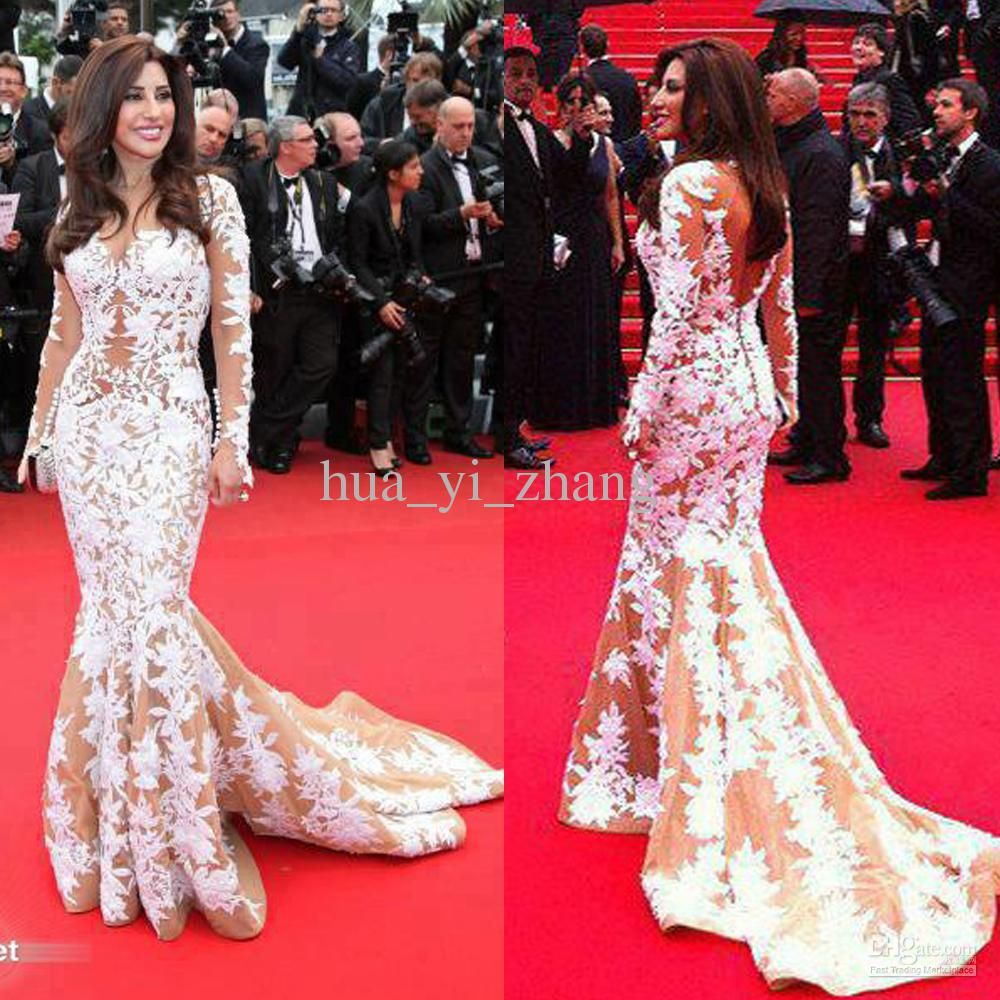 Long Sleeve Celebrity Evening Dresses Inspired by Najwa Karam in ...