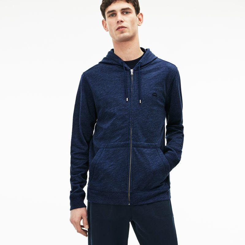 3d3861c8e Men s Lacoste MOTION Hooded Cotton Fleece Zip Sweatshirt