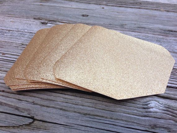 Envelope Liners - No Shed Glitter - 5X7 A7 Envelopes - Glitter