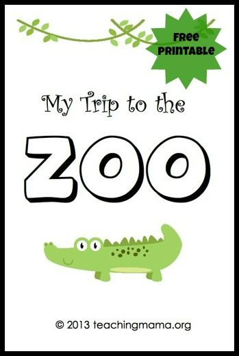 my trip to the zoo free printable booklet slp theme related