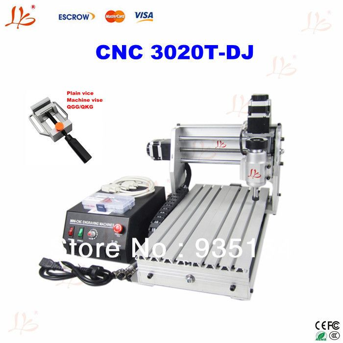 User-friendly 3 axis cnc router 3020 T-DJ PCB milling