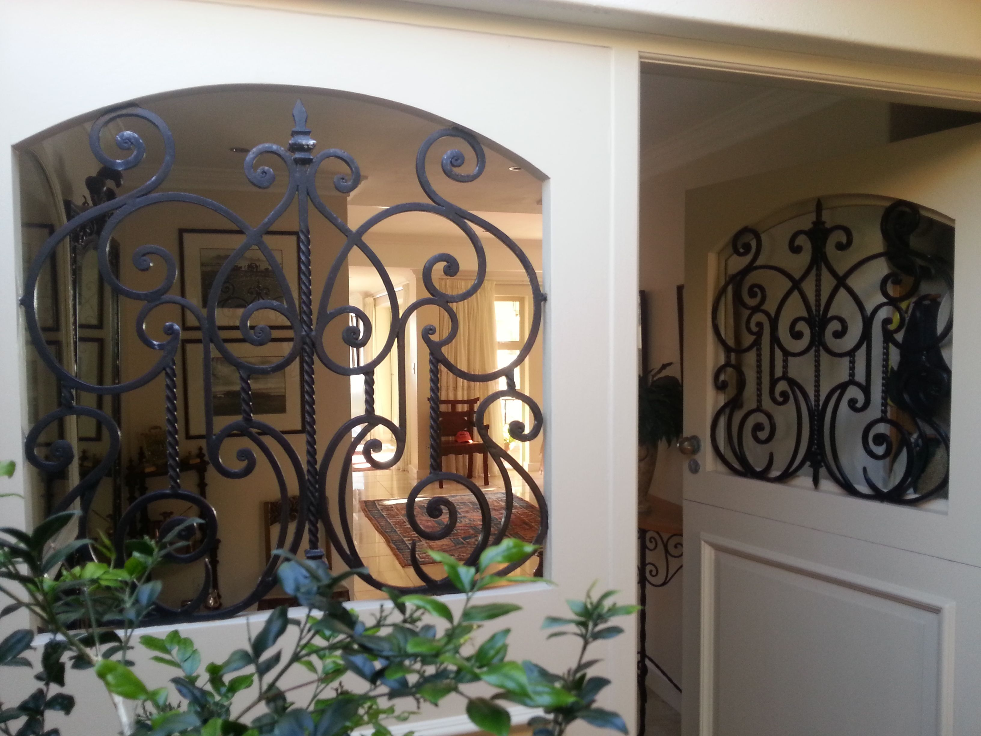 16mm Square Bar Scroll Pattern In Wooden Door Frame 16 Years Old