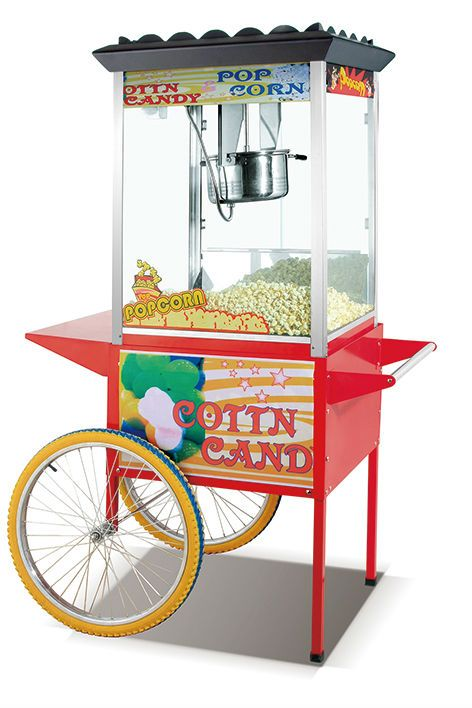 Hp 12bc Industrial Popcorn Machine With Wheels With Good Price In