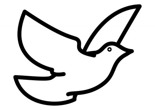 Coloring Page Dove Bird Outline Holy Spirit Dove Clip Art