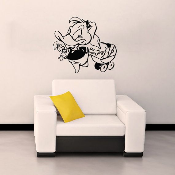 FUNNY DUCK Housewares Wall Vinyl Decal Art Design Interior Children's Nursery Kids Decor Murals Sticker Removable Room Window SV2076