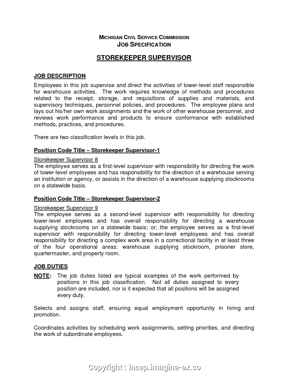Warehouse Supervisor Resume Sample Beautiful Warehouse Job Description Resume Templates Supervisor Job Description Job Resume Examples Job Resume