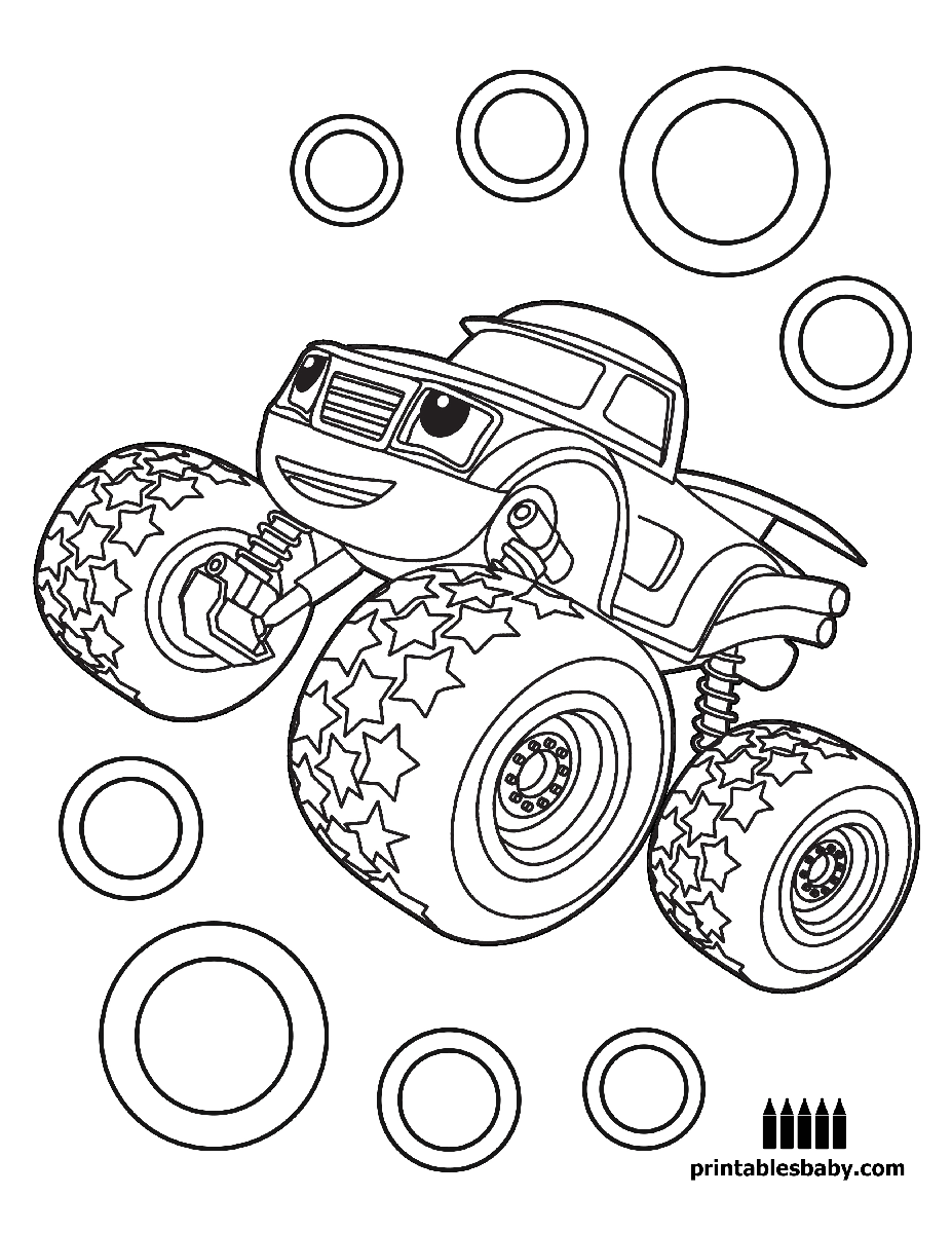 Free coloring page gumball machine - Blaze And The Monster Machines Printables Baby Free Cartoon Coloring Pages