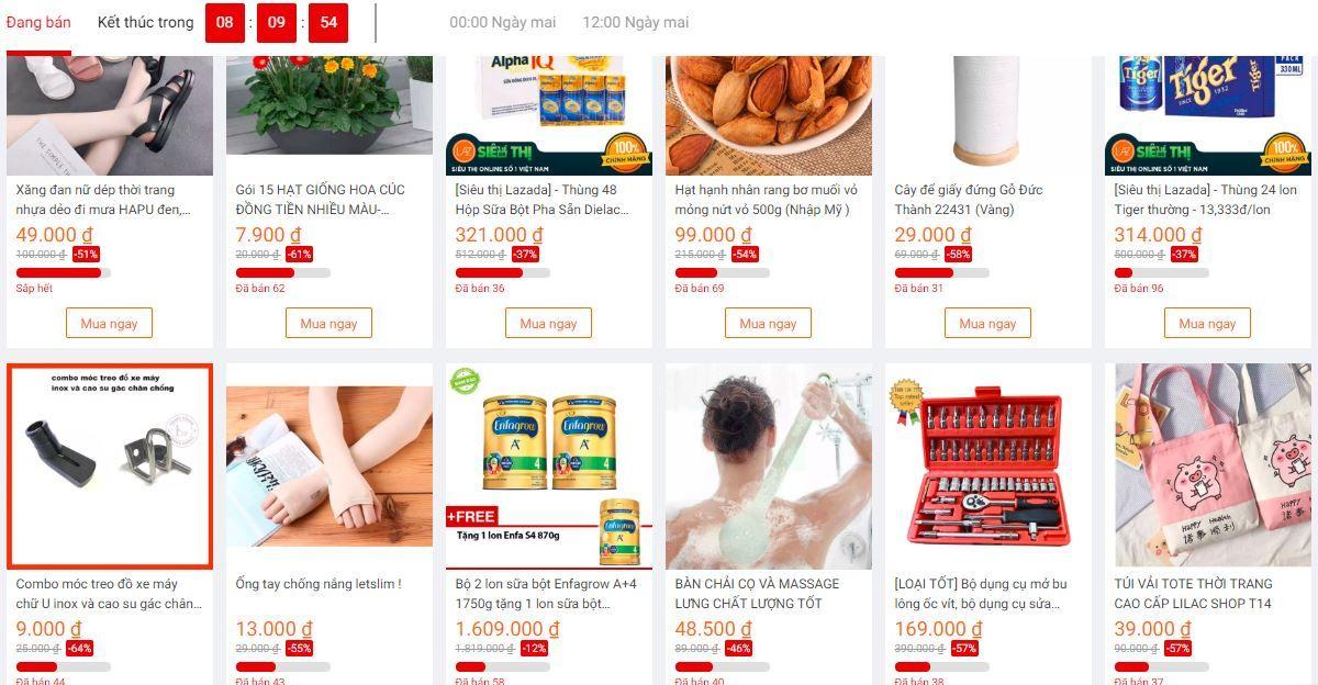 Rất nhiều mặt hàng giảm giá Sock trong chương trình Flash Sale