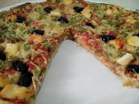 جديد أروع وصفة لبطاطا مقلية على شكل بيتزا لذيذة جدا من قناة Aya Acil Tv Youtube Food And Drink Food Vegetable Pizza