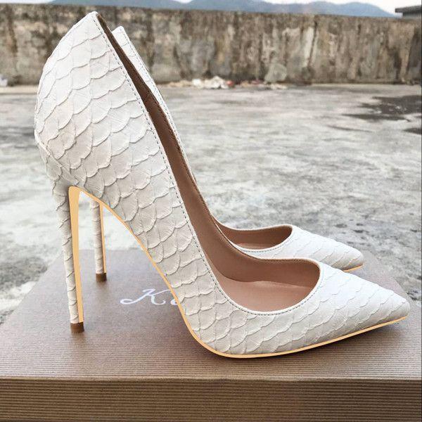 Brautschuhe | Weiße Spitzen High Heels Brautschuhe