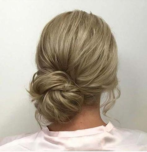 Low Side Bun for Prom Updo Idea #weddinghairupdos #lowsidebuns Low Side Bun for ... - pink #lowsidebuns