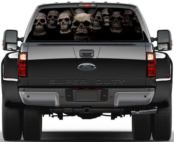 a4d644af Aged American Flag Truck Rear Window Wrap Decal Sticker | Products ...