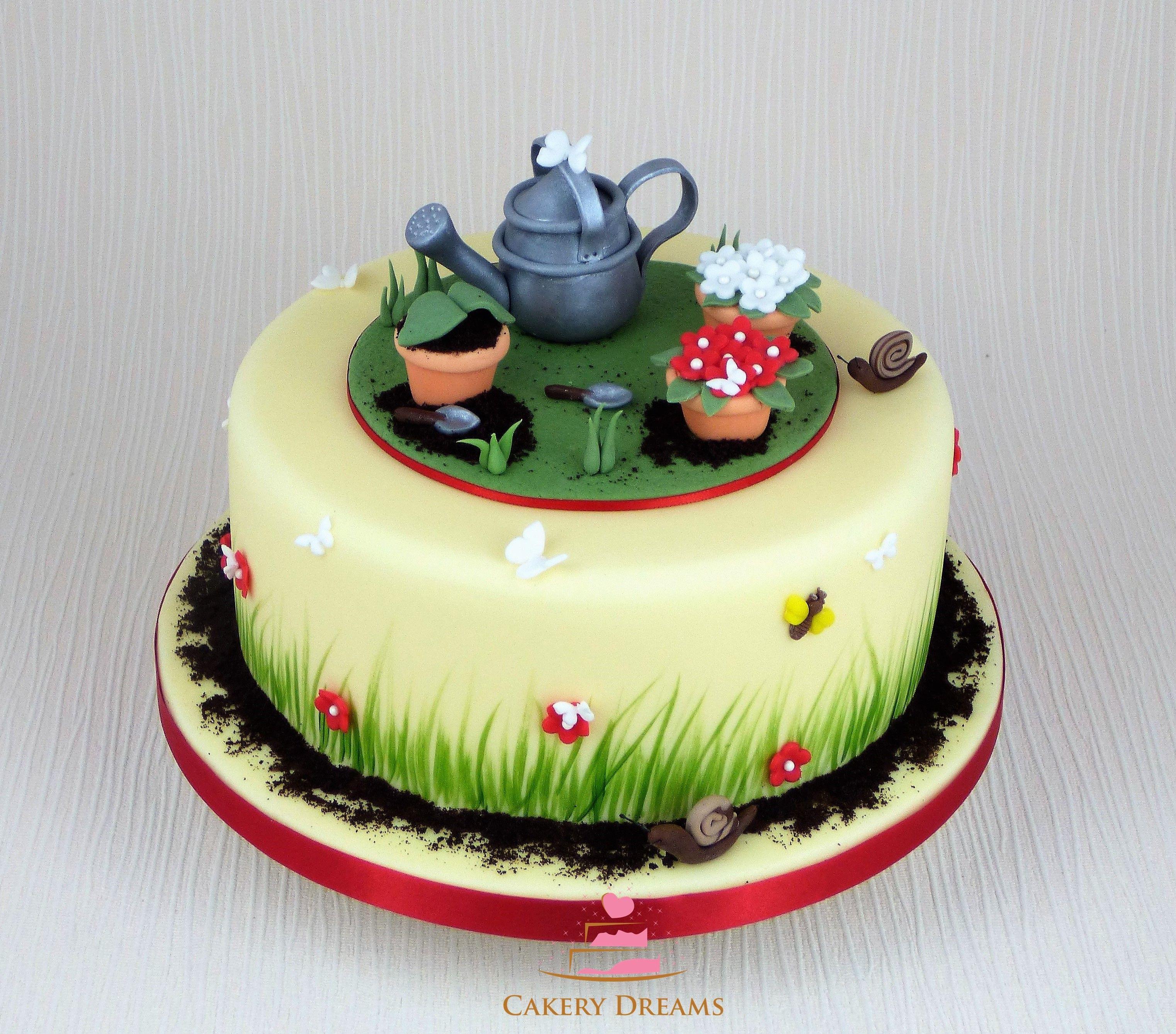 Fondant Torte Zum Thema Fruhling Im Garten Cake Spring Garden Garten Fondant Torten Fruhling Fondant Torten Fruhlings Torte Kuchen Mit Fondant