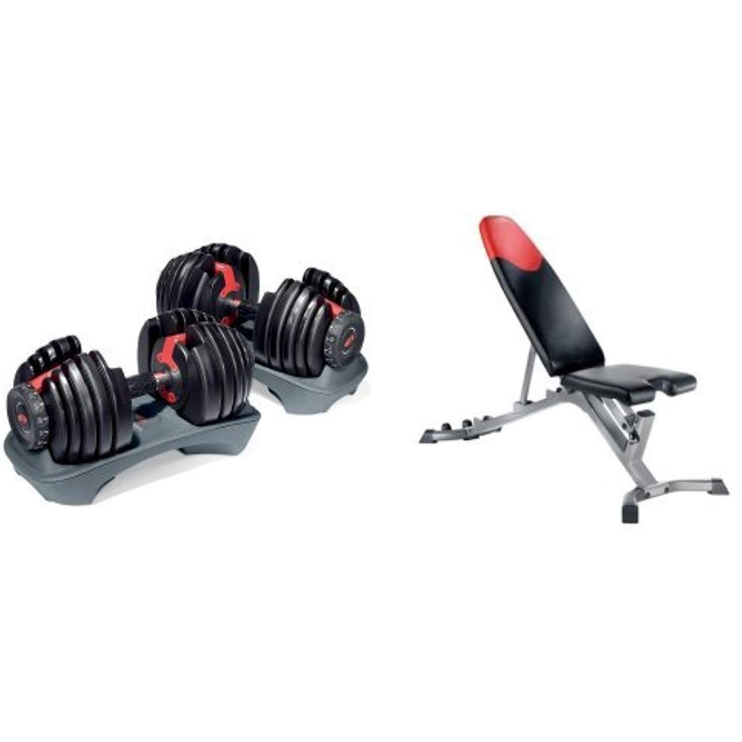 Bowflex Selecttech 552 Adjustable Dumbbells Pair And Series 3 1 Bench Check Out This Great Product This Is An Affiliate Link Exerc Adjustable Dumbbells