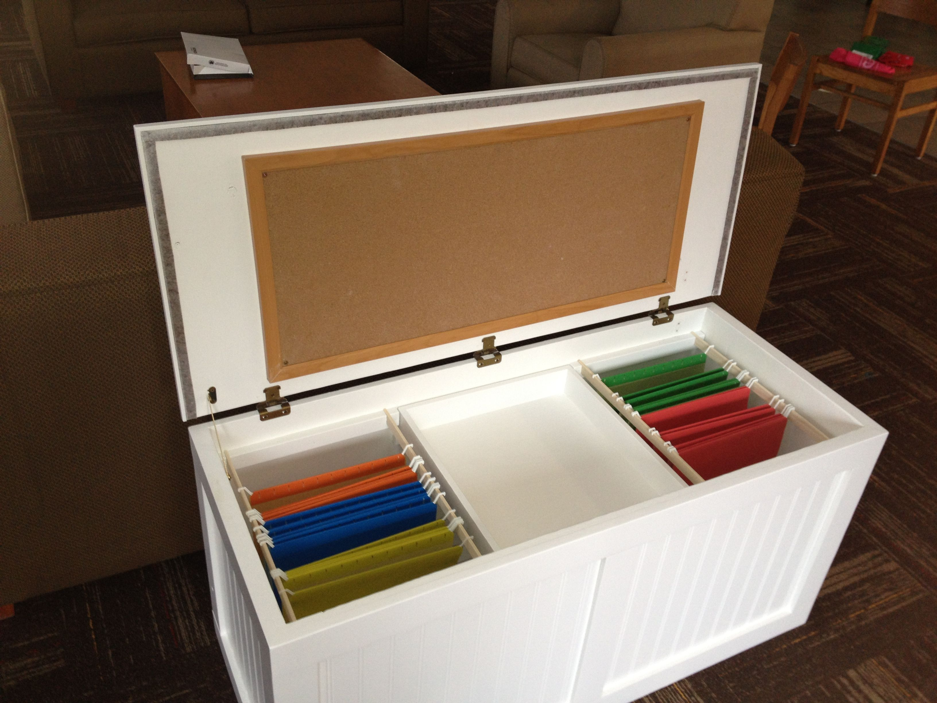File Cabinet in Disguise Chest Removable center tray storage