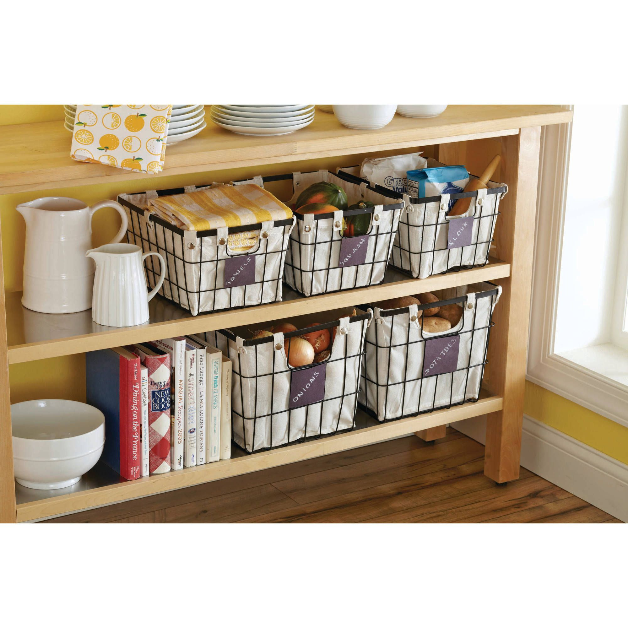 2ba44278c818bcaa0f8dbb5615cc2415 - Better Homes And Gardens Wire Basket With Chalkboard Black