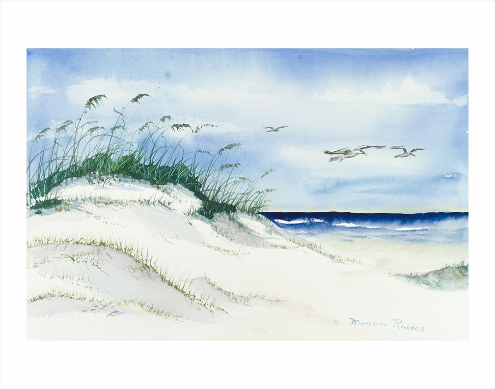 Maureen Rhodes Gulf Shores Seascape 11x14 Watercolor Print