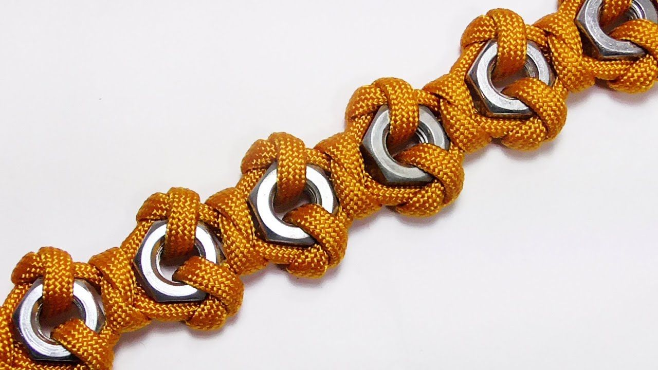 How You Can Make This Hex Nut Paracord Bracelet Paracord