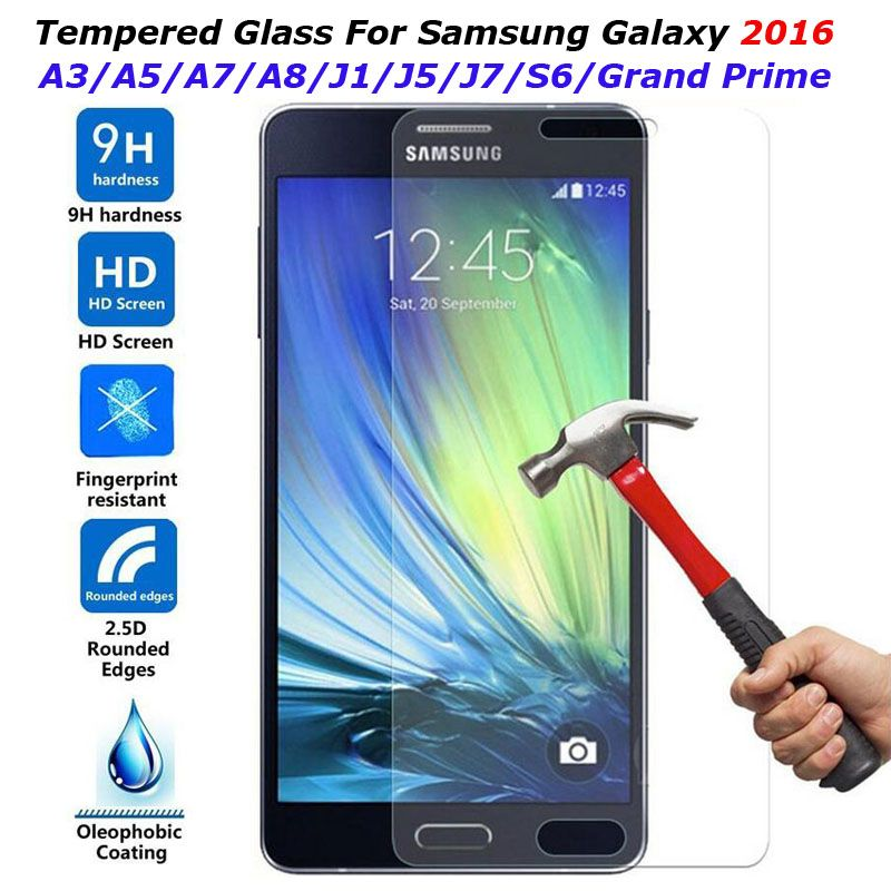 9h Tempered Glass Screen Protector Film For Samsung Galaxy S6 Grand Prime G530 A3 A5 A7 J1 Mini J3 J5 J7 Prime 2016 Cov Samsung Samsung Galaxy Screen Protector