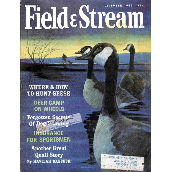 Cover Print of Field and Stream, December 1963   $6.60