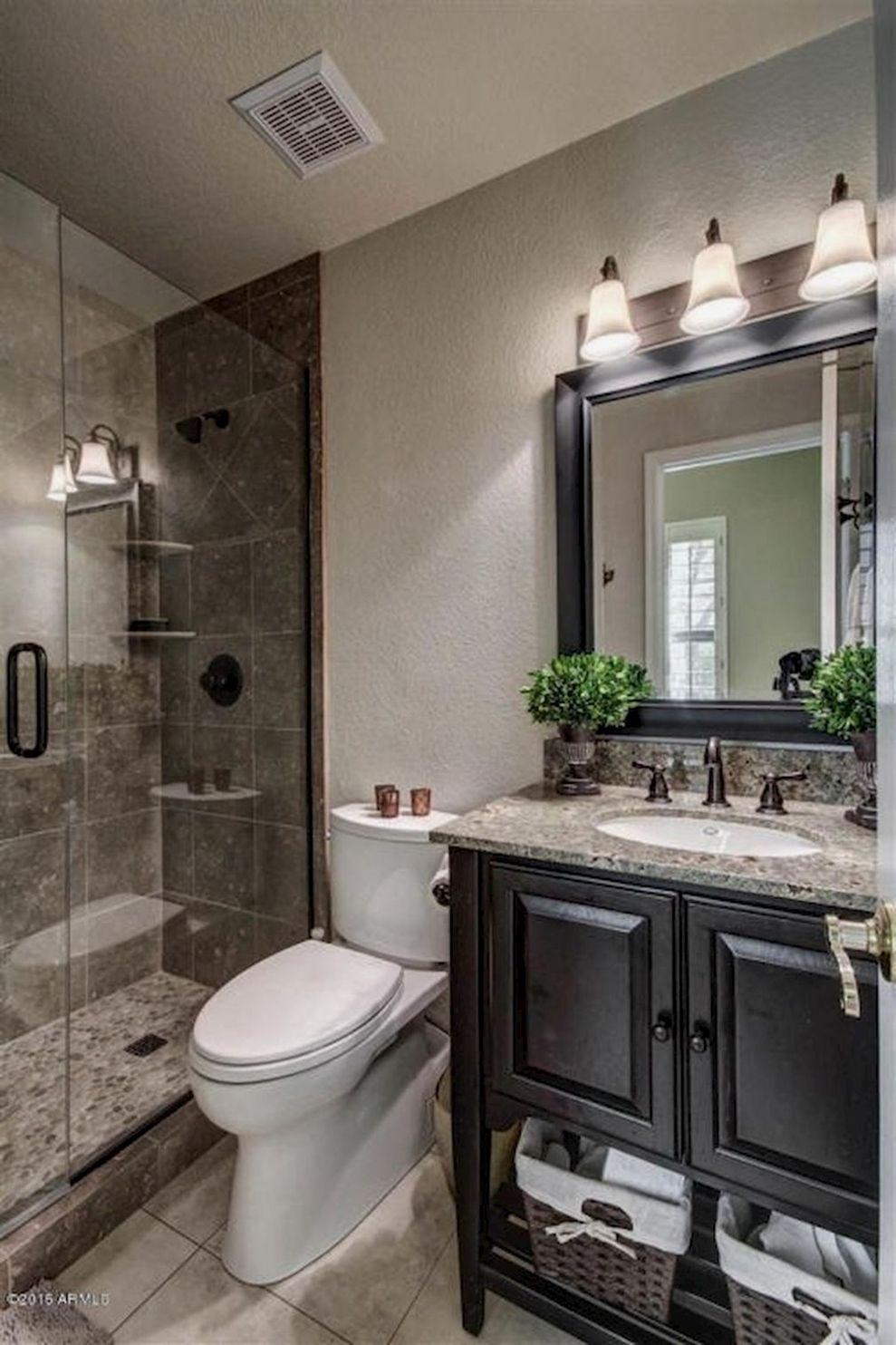 Half Bathroom Ideas Capitalize On A Powder Room S Little Size To Make A Bold Style Dec Bathroom Remodel Shower Bathroom Design Small Master Bathroom Makeover