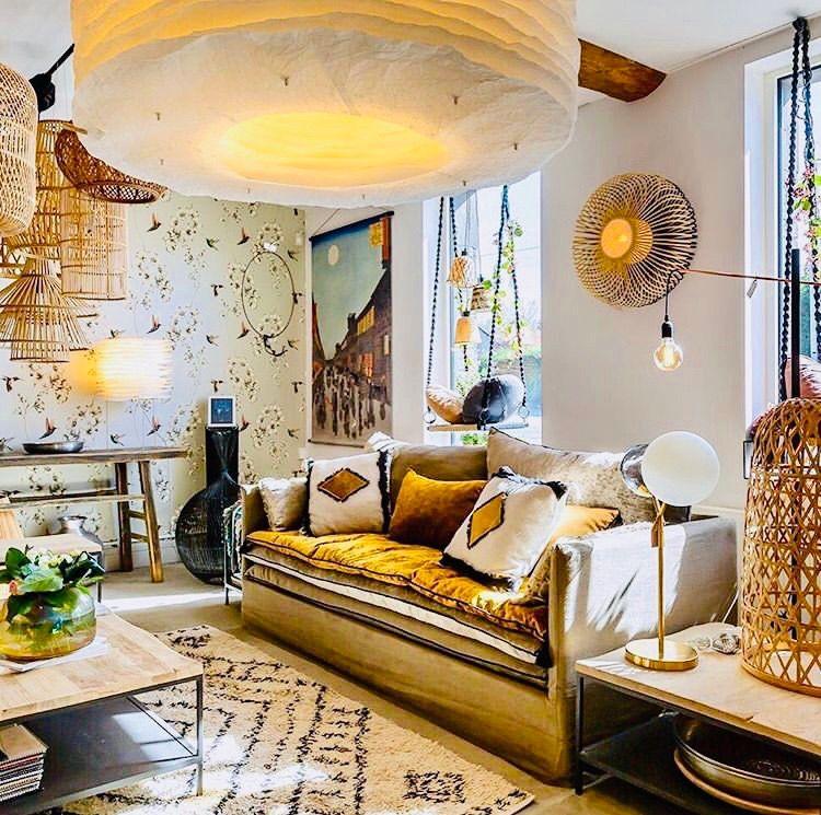 Canape En Lin Lave Beige Ciment Joseph Stanislas A Lille Deco Maison Interieur Maison Decoration Maison