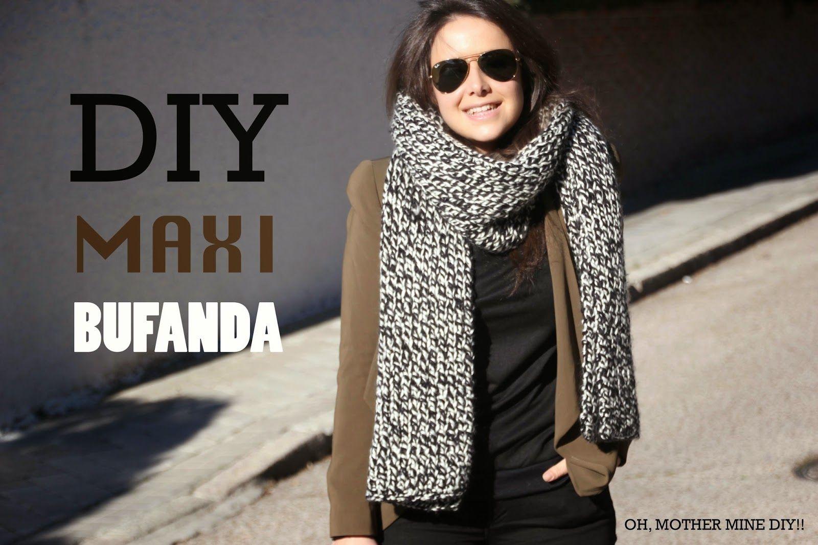 Tutorial: Un maxi bufanda DIY | Fabric craft - Crochet - Telas e ...
