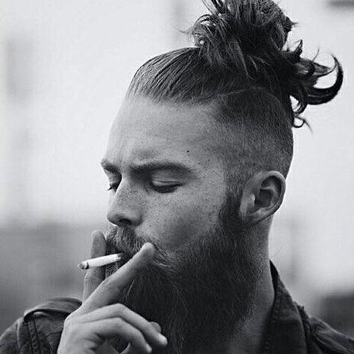 Best Man Bun Fade Frisuren | Frisuren, Hipster