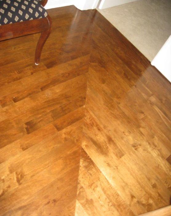 Wood Floors Custom Installation Miter Joints At Hallway Turn Jace