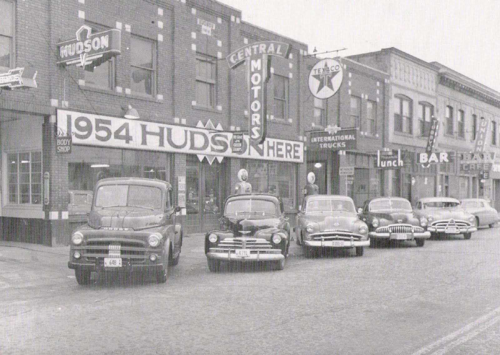 South side of the 200 block of sherman ave cda in 1954