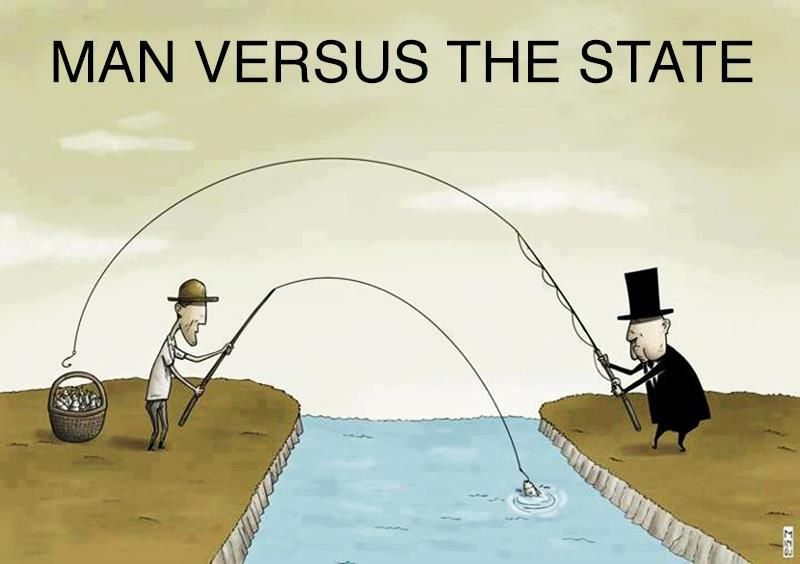 Man Vs The State Everything The Government Has Was Taken From