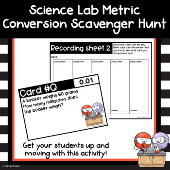 Science Lab Metric Conversion Review Scavenger Hunt   Word ...