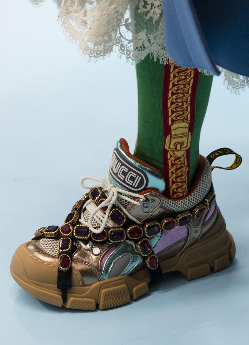 Gucci AW18 | Calçat Dona: Sabates&Botes | Dad shoes, Gucci ...