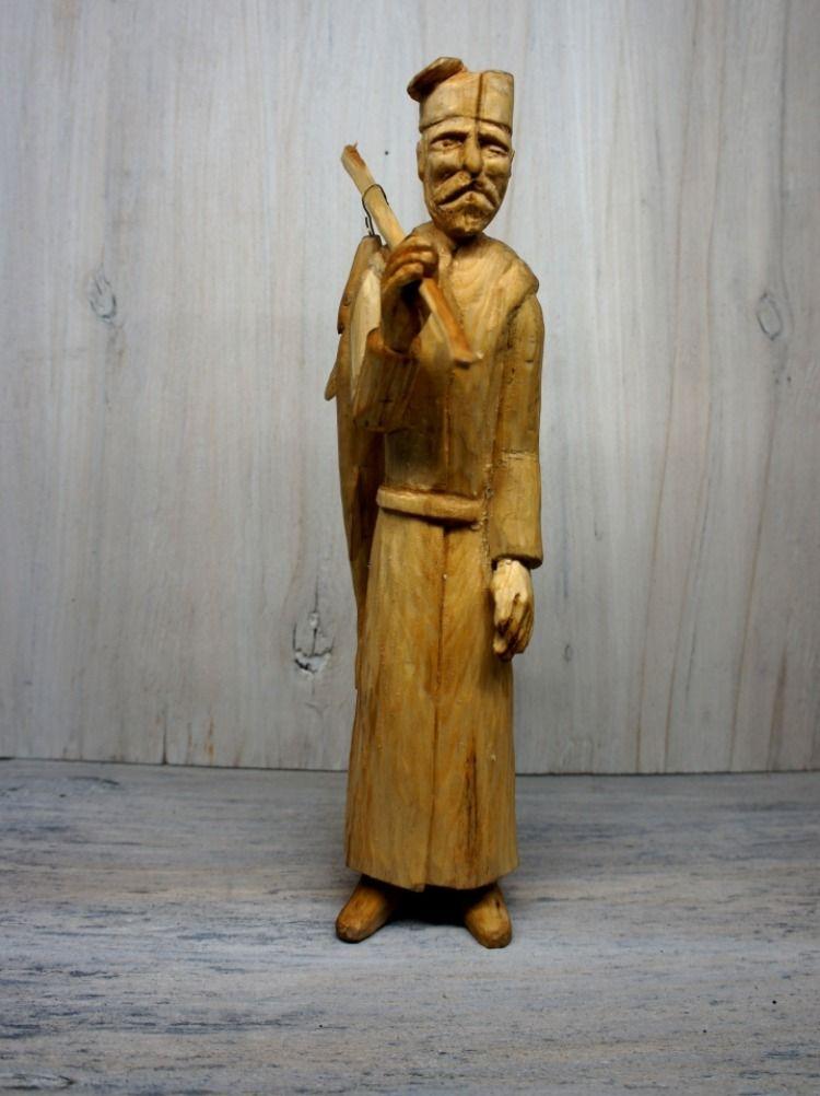 Recznie Rzezbiona Postac Rybaka Rybak Ryba 8870371581 Oficjalne Archiwum Allegro Greek Statue Statue Art