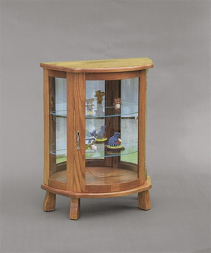 Nice Amish Flat Wall Curio Cabinet With Legs