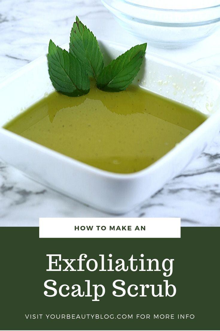 Diy exfoliating scalp scrub recipe in 2020 homemade salt