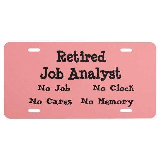 Retired Job Analyst