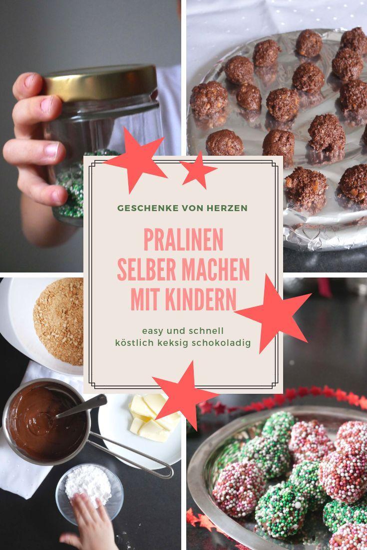 Pralinen selber machen mit Kindern!  Schokolade, Butterkekse und viele viele bun…