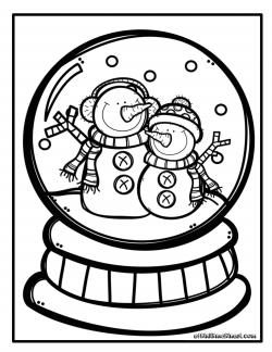 Kar Küresi Boyama Sayfasi Clipart Pinterest Christmas Winter