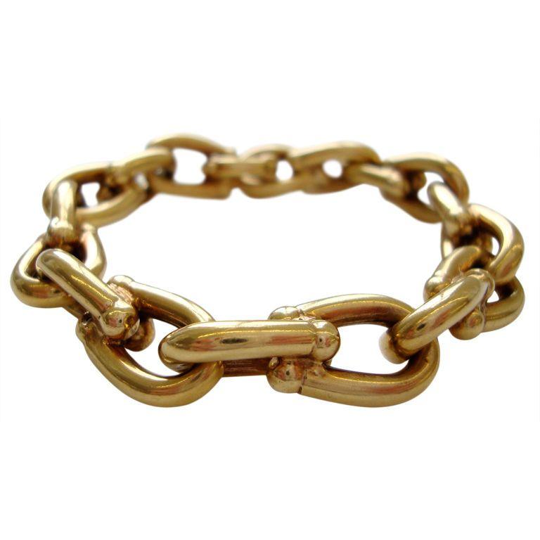 Cartier 18k Gold Link Bracelet Circa 1960 Kimberly Klosterman Jewelry Archives Vintage Jewelry Chic Jewelry Gold Link Bracelet