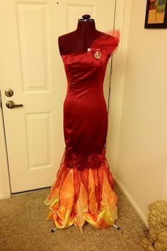 my girl on fire katniss dress for sd comic con pinner - Fire Girl Halloween Costume