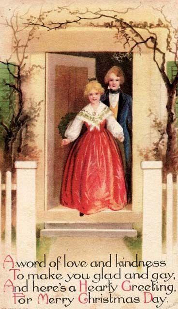 Vintage Merry Christmas - Clapaddle