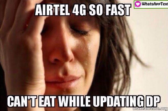 Airtel 4g Internet Speed Is Too Fast Jokes Airtel 4g Challange